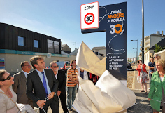Inauguration de la zone 30  Angers
